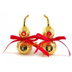 Pair of Golden Feng Shui Bagua Wulou (S)