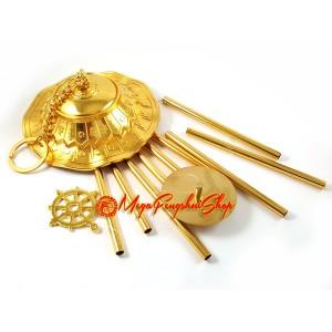 Parasol Dhamachakra Wheel Nine-Rod Windchime