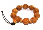 Peach Wood Lotus Flower Bracelet