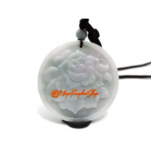 Peony Queen of Flowers Jade Pendant