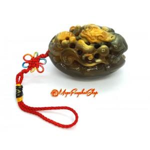 Pi Yao Feng Shui Crystal Amulet (Chalcedony)