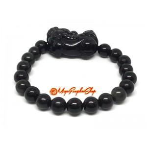 Pi Yao  Protection Crystal Bracelet (Obsidian)
