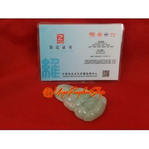 Premium Grade A Jade Kwan Yin Pendant (with certificate)