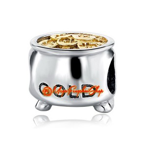 Prosperity Gold Pot Bead Charm (925 Silver)