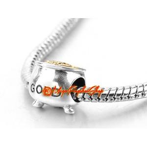 Prosperity Gold Pot Bead Charm (925 Silver)
