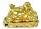 Reclining Golden Laughing Buddha