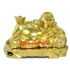 Reclining Golden Laughing Buddha