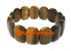 Rectangular Tigers Eye Elastic Crystal Bracelet
