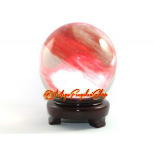 Red Fire Feng Shui Crystal Ball