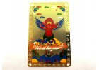Red Garuda Mythical Bird Card (Metal)