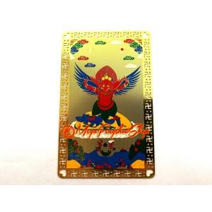 Red Garuda Mythical Bird Card (Metal)
