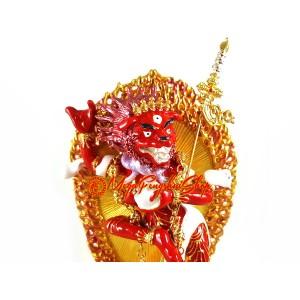 Red Lion Faced Dakini Statue