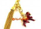 Red Windhorse with Flaming Jewel Fengshui Keychain