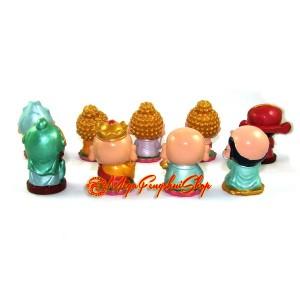 Set of Nine Adorable Gods and Deities Figurines