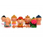 Seven Chinese Gods and Deities Miniature Statues