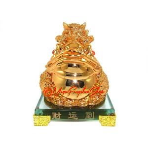 Supreme Wealth Generating Golden Money Frog for 100 Kinds of Luck