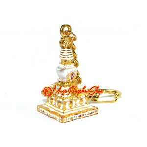 The Stupa of Eight Doors to Abundance Keychain