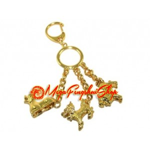 Three Celestial Guardians Feng Shui Keychain