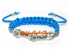 Three Laughing Buddha Heads Bracelet - Adjustable