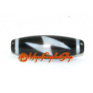Tibetan Dzi Bead (5 Eye Lightning)
