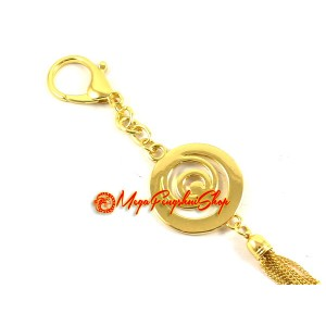 Trinity Circle with Mantra Feng Shui Keychain