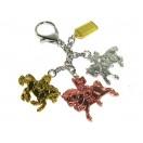 Trinity of Victory Horses Keychain