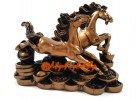 Two Galloping Horses for Swift Wealth Luck