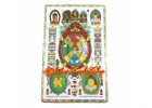 Universal Tortoise with Manjushri and Kalachakra Card (Metal)