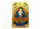 Vajrasattva Amulet Card (Metal)