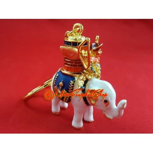 Victory Power Elephant with Magic Barrel Keychain