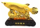 Wealth Inviting Golden Arowana Dragon Fish