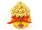 Wealth Pot Filled with Overflowing Gold Ingots