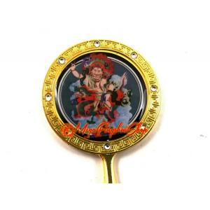 White Dzambala Wealth God Mirror Keychain