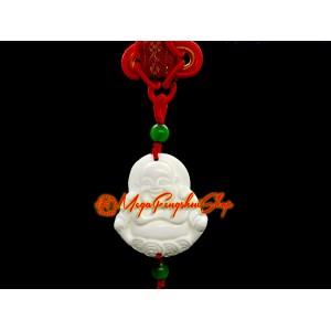 White Shell Laughing Buddha Amulet Hanging