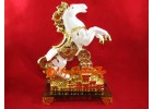 White Victory Fengshui Horse with Treasure