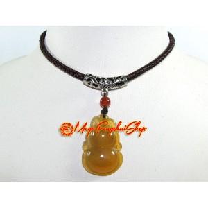 Wu Lou Pendant with Adjustable Necklace - Jasper Chalcedony