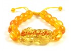 Yellow Crystal Feng Shui Piyao Bracelet (Adjustable)