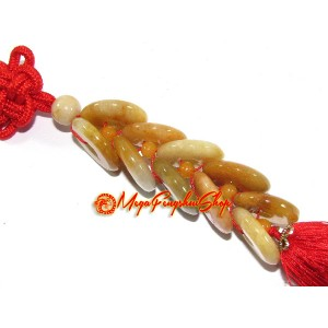 Yellow Jasper Prosperity Ten Coins Tassels