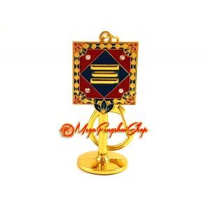 Yin House Mirror Feng Shui Keychain
