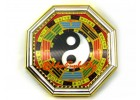 Golden Feng Shui Bagua with Yin Yang Symbol