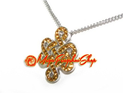 Silver mystic knot pendant with yellow swarovski crystals 925 silver mystic knot pendant with yellow swarovski crystals mozeypictures Image collections