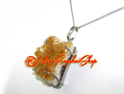Citrine cluster crystal pendant necklace aloadofball Gallery