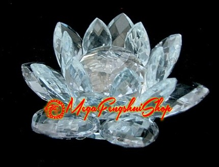 Feng shui lotus flower blue crystal feng shui lotus flower blue mightylinksfo Image collections