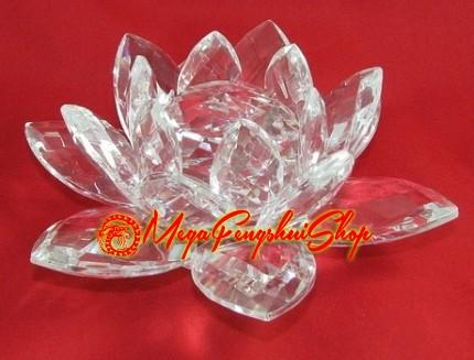 Crystal Feng Shui Lotus Flower Clear