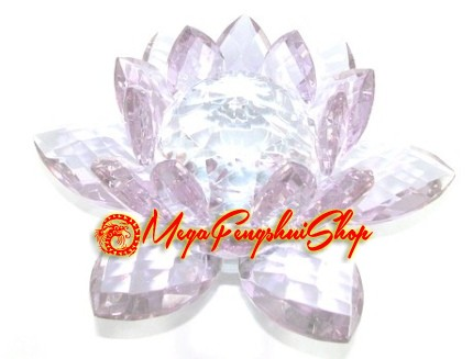 Crystal feng shui lotus flower light purple mightylinksfo Image collections