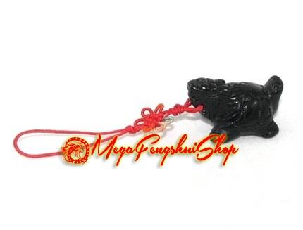 Feng shui dragon tortoise mobile hanging obsidian - Feng shui mobel ...