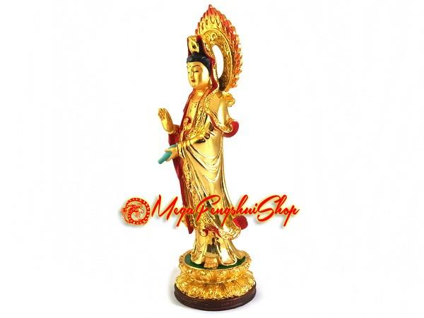 6eb5a4e0878 Standing Guan Yin Statue (Gold Plated)