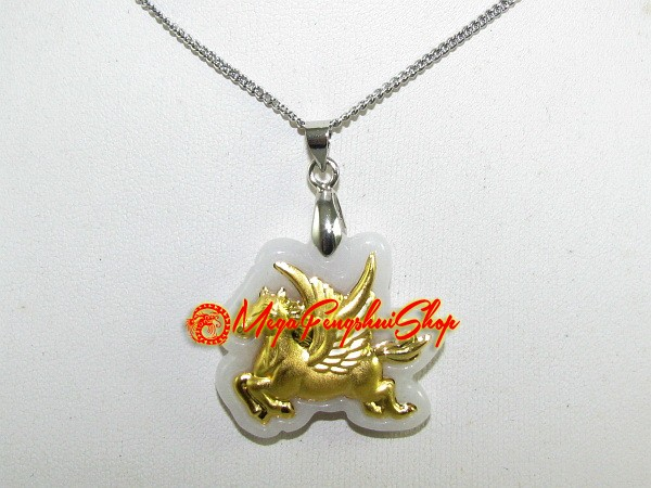 Fortune gold flying horse on high quality jade pendant good fortune gold flying horse on high quality jade pendant aloadofball Images