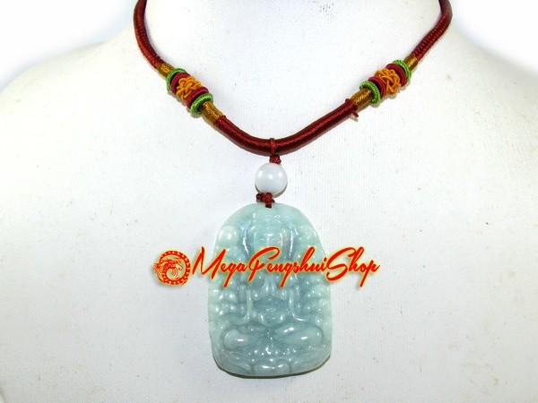 Jade thousand hand kuan yin pendant high grade altavistaventures Choice Image
