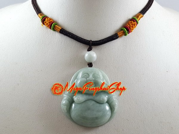 Buddha pendant with adjustable necklace jade laughing buddha pendant with adjustable necklace jade aloadofball Image collections